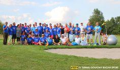 """IV Turniej Golfowy Bacha Sport Firma Bacha Sport Janina Warot powstała 24 lata temu. Rocznicę dwudziestolecia działalności postanowiliśmy świętować w sportowym stylu organizując turniej golfowy.Pomysł, by spotykać się na polu golfowym okazał się strzałem w dziesiątkę, lub jak kto woli """"HOLE IN ONE"""" :) Impreza ta staje się już tradycją - w sobotę 24 sierpnia odbył się kolejny, IV Turniej Golfowy Bacha Sport."""