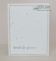 Monochromatic white wedding card #cardmaking