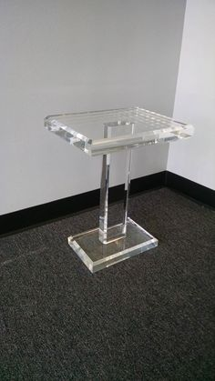 Acrylic Lucite End Table, Acrylic Lucite Side Table, Acrylic Lucite Cigarette Table Aluminum Fabrication, Nesting End Tables, Glass And Aluminium, Plastic Tables, Family Room Design, Furniture Inspiration, Furniture Ideas, Table Dimensions, Home Furnishings