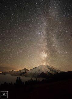 Milky Way above Rainier by Jackie Kajdzik on 500px
