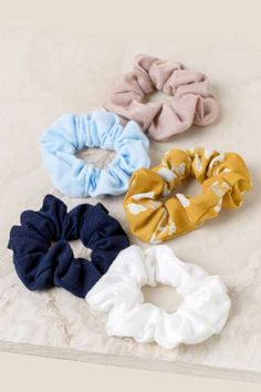 The Alora Scrunchie Set features a set of 5 hair ties, one patterned and the rest solid. Hair Accessories For Women, Fashion Accessories, Scarf Hairstyles, Cool Hairstyles, Indian Eyes, Birthday Wishlist, Cute Jewelry, Hair Ties, Cute Fashion