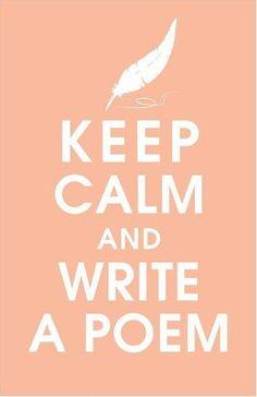 and write a poem / e escreva um poema