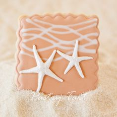Starfish Couple Beach Wedding Cookie Favors