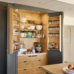 Multiple Size Storage in Single Cabinet with Door Space Utilization