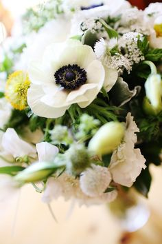 Love love love anemones;) Photography by jennawalkerphotography.com, Floral Design by bellafiori-events.com @Bella Fiori