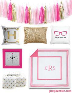 Preppy Dorm Room Ideas | www.prepavenue.com