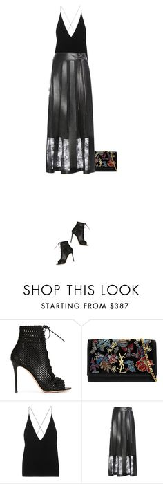 """Unbenannt #841"" by bexmuc ❤ liked on Polyvore featuring Gianvito Rossi, Yves Saint Laurent, Dion Lee, Christopher Kane and laceup"
