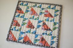 Colorful Bear Paw Quilt Block   Do you see bear claws or bear paws in this quilt block?