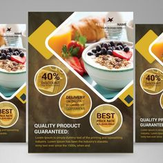 Restaurant color  food flyer Food Graphic Design, Food Menu Design, Food Poster Design, Food Packaging Design, Dessert Restaurant, Restaurant Flyer, Seafood Restaurant, Restaurant Recipes, Prospectus