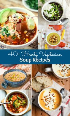 40+ Hearty Vegetarian Soup Recipes that will warm you up this fall and winter! | Hello Little Home