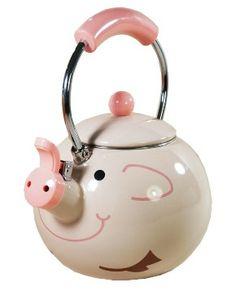 Kettle Pig from Red Wrappings.Novelty Kettle Pig from Red Wrappings. This Little Piggy, Little Pigs, Pig Kitchen, Kitchen Ideas, Piggly Wiggly, Mini Pigs, Cute Piggies, Flying Pig, Tea Set
