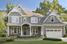Exterior Gray Paint, Exterior Paint Colors For House, Paint Colors For Home, Exterior Colors, Paint Colours, Exterior Design, Exterior Paint Color Combinations, Color Schemes, Modern Exterior
