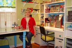 She shows how to reorganize a craft area on a budget!