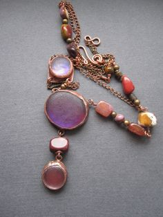 Copper Purle Necklace by Mary Bulanova