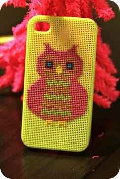 iphone cross stitch cover