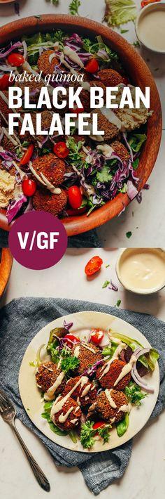 Black Bean Quinoa Falafel. #vegan #glutenfree #Vegetariancooking