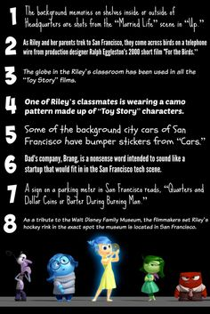 8 Fun Facts about the Disney Pixar movie Inside Out