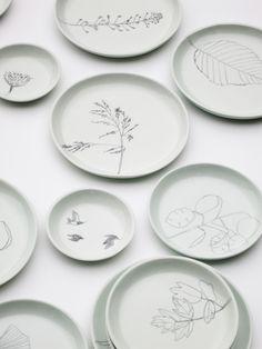hand casted and hand drawn plates by Elke van den Berg & Maartje van den…