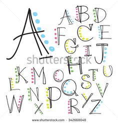 Black colorful alphabet uppercase letters.Hand drawn written with a soft watercolor paint brush chalk pencil Doodle Lettering, Creative Lettering, Brush Lettering, Bullet Journal Font, Journal Fonts, Journaling, Embossing Stamp, Calligraphy Alphabet, Calligraphy Fonts