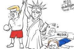 How cartoonists around the world have reacted to Donald Trump's victory | indy100