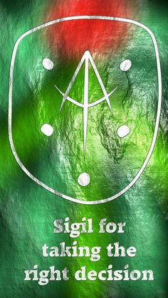 Sigil for taking the right decision Here you go my friend. Thank you for the request, I appreciate it. Sigil requests are open! Wiccan Spell Book, Witch Spell, Magic Symbols, Viking Symbols, Egyptian Symbols, Viking Runes, Ancient Symbols, Wicca Witchcraft, White Magic