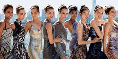 From left: Joan Smalls, Cara Delevingne, Karlie Kloss, Arizona Muse, Edie Campbell, Imaan Hammam, Fei Fei Sun, Vanessa Axente, and Andreea DiaconuFashion Editor: Tonne Goodman