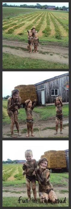 Mud fights!