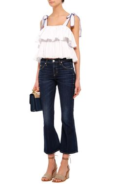 True Blue Flared Jane Jeans by AMO Now Available on Moda Operandi