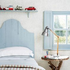 Discover stylish kids' bedroom ideas on HOUSE - design, food and travel by House & Garden. This sweet bedroom has the atmosphere of a New England-style holiday home.