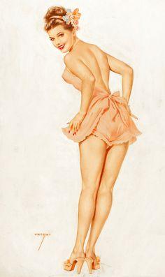 Alberto Vargas Vintage Pin Up Girl Illustration Pin Up Vintage, Retro Pin Up, Photo Vintage, Vintage Images, Retro Vintage, Pinup Art, Estilo Pin Up, Rolf Armstrong, Dita Von Teese