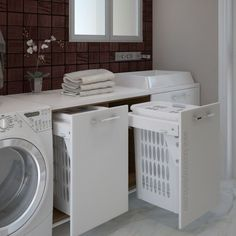 Cesto ropa Blanco 45 - Equal Tutorial and Ideas Laundry Room Remodel, Laundry Room Bathroom, Laundry Room Organization, Small Bathroom, Bathrooms, Modern Laundry Rooms, Laundry Room Inspiration, Rustic Home Interiors, Small Room Bedroom