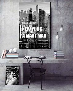 New York quote Mark Twain/New York Photography/New York art/New York decor/black and white photography/NYC/New York skyline/New York print Paris Wall Decor, Wall Decor Set, Bathroom Wall Decor, New York Black And White, Black And White Prints, Office Canvas Art, New York Quotes, Cool Artwork, Amazing Artwork