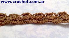Puntilla en tejido crochet tutorial paso a paso. Nº 11.