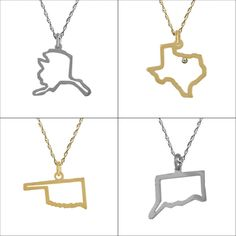 State Outline Necklaces