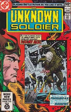 The Unknown Soldier Comic Book Comic Books For Sale, Dc Comic Books, Comic Book Covers, Comic Book Characters, Comic Character, Comic Art, Tales To Astonish, Joe Kubert, The Faceless