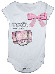 #purse #bow #chanel purse #onesie #chanel baby #baby chanel #baby onesie