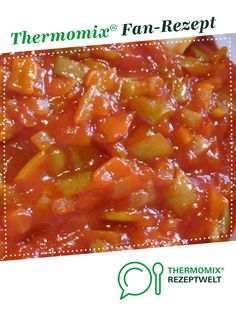 Letscho (Wintersalat). Лечо. von Melcher2005. Ein Thermomix ® Rezept aus der Kategorie Vorspeisen/Salate auf www.rezeptwelt.de, der Thermomix ® Community. Chili, Soup, Dressing, Cooking, Salads, Tomatoes, Sandwich Spread, Hungary, Kitchen