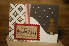 We love the mixed patterns and textures on this cozy card from our Santa Barbara, CA store!