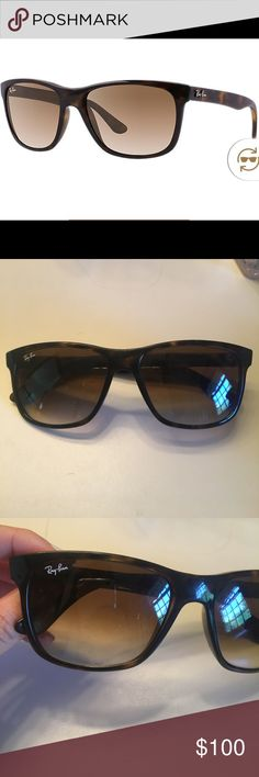 Ray Ban RB4181 Women's Sunglasses The frame is brown tortious and the lenses are brown gradient. These sunglasses have very minor wear on the lenses, but it is not very noticeable (I provided a photo of each lens). Authentic Ray Ban and come with black Ray Ban case. Both the case and glasses have been used but they are in great condition. Ray-Ban Accessories Sunglasses