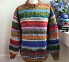 Marble Mix Chunky Unique Sweater Hand knitted by Bexknitwear  #Bexknitwear #Jumpers
