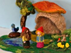 Needle Felted Waldorf Forest Creature Playscape