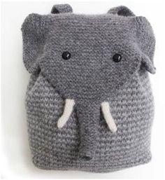 Elefanten Rucksack stricken