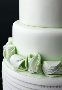 mint ruffle cake