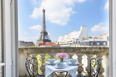 Gorgeous two bedroom vacation rental in the heard of Paris' fabulous Left Bank.  Step onto your private balcony and enjoy breathtaking views of the Eiffel Tower.