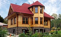 """Wooden house from Finland: model """"Caprice"""" log home"""