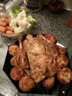 Whole Masala Roast Chicken.  Delicious!