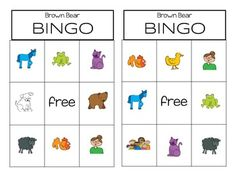 This bingo game is great for your Brown Bear Unit.  A fun way for your students…