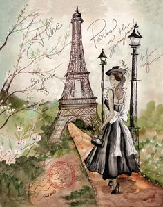 RB1484 <br> Springtime in Paris I <br> 14x11