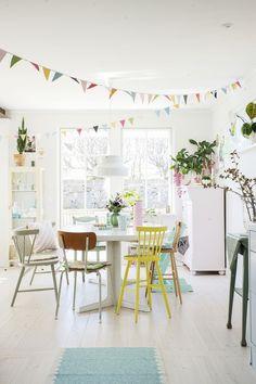 Une maison suédoise couleur pastel - PLANETE DECO a homes world