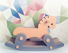 Rocky - The Rocking Horse. Citrus. Recyclable Cardboard Rocking Horse. Eco Friendly Animal Toy for Kids. on Etsy, $210.00